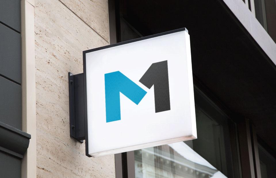 logo on signboard