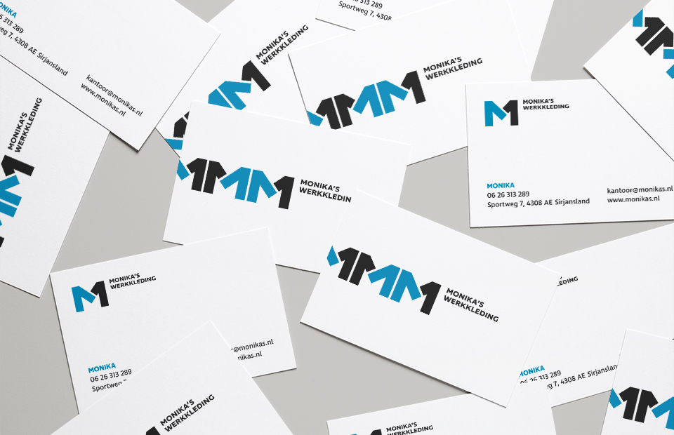 Monikas Werkkleding Business Cards