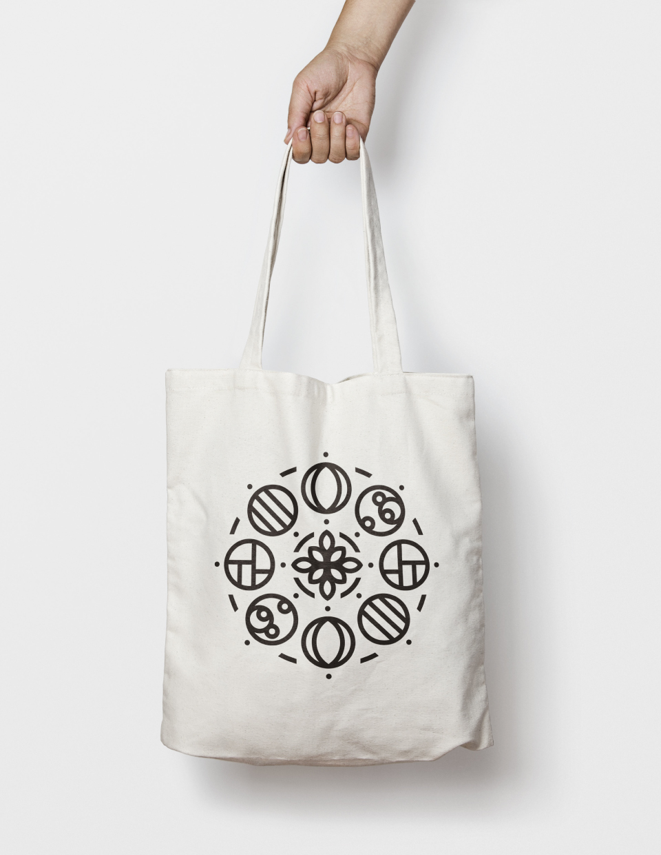 Logo application on a cotton bag