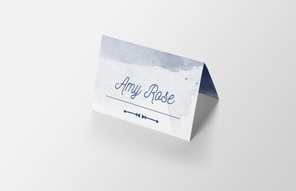 Guest name card design
