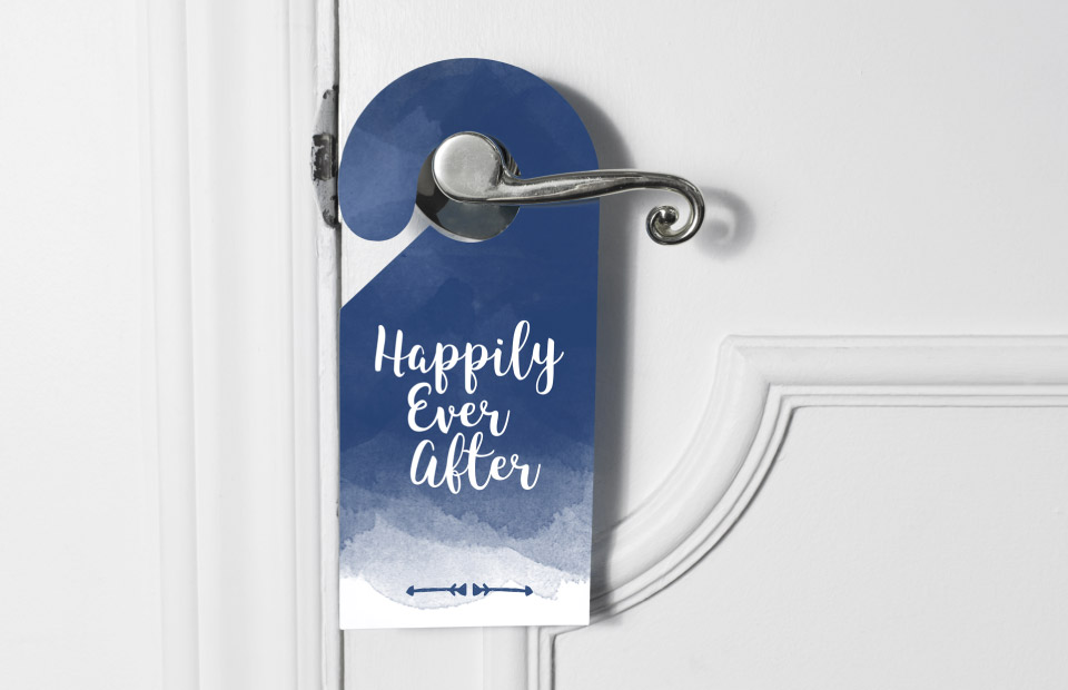 wedding night door hanger design
