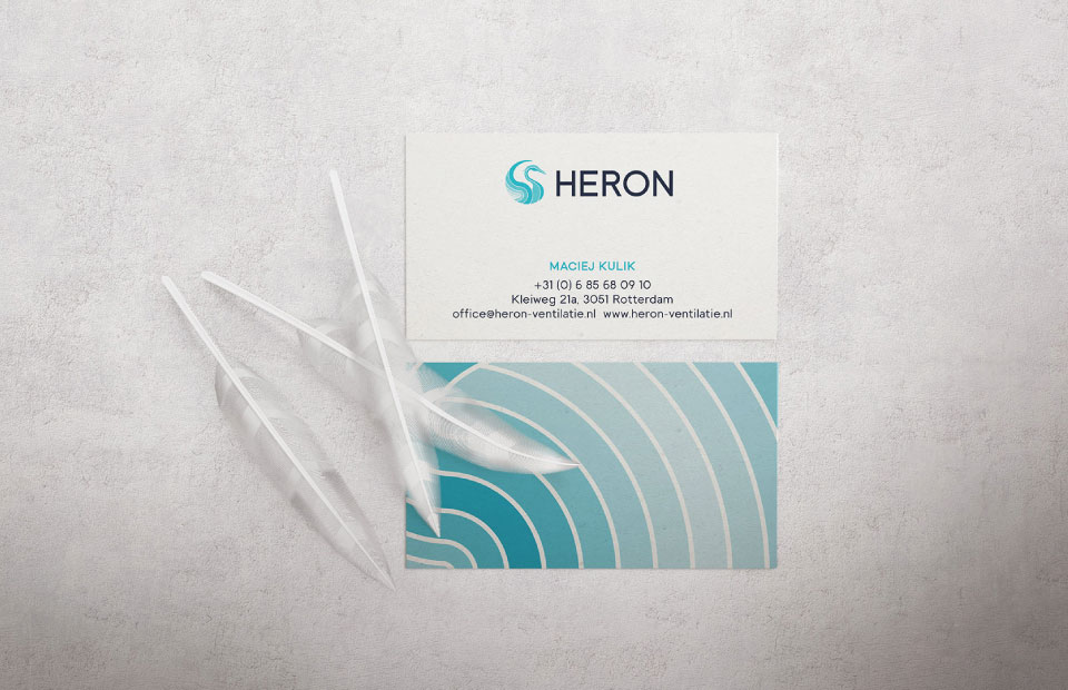 Heron Business Cards