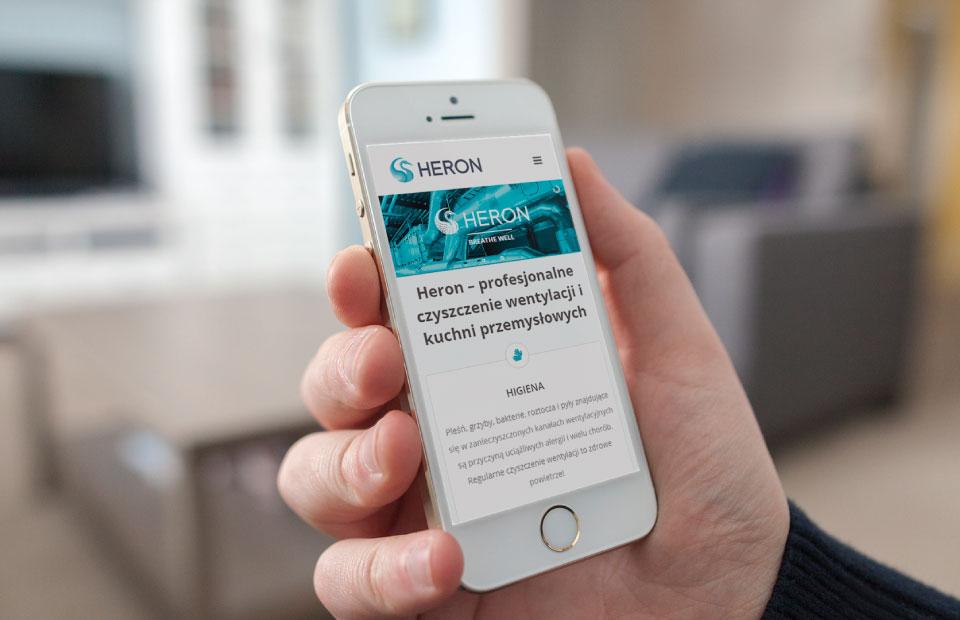 Heron Website Mobile