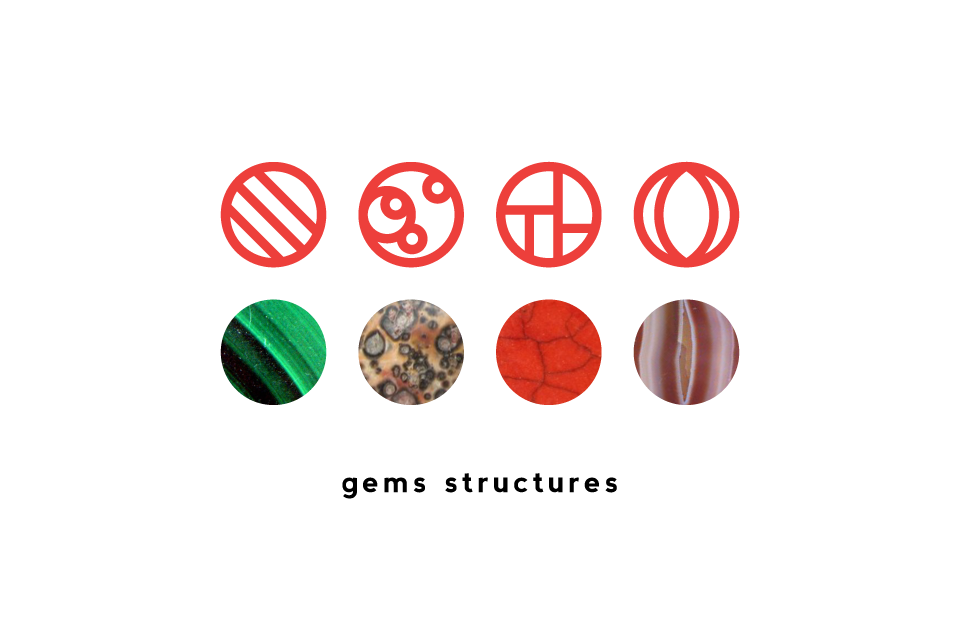 brand identity - gemstones graphic structures