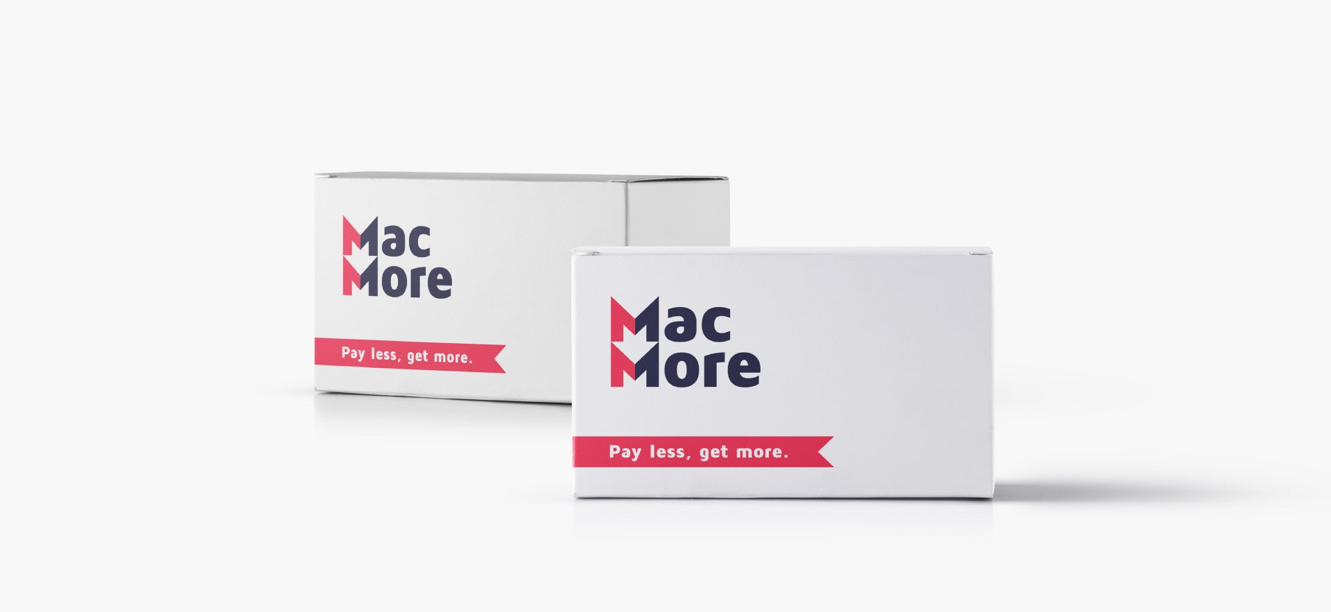 MacMore opakowanie, pudełka z logo
